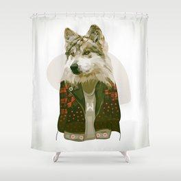 wolf jacket Shower Curtain