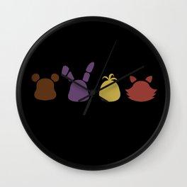 A bear, bunny, chick and a fox 2 Wall Clock