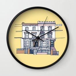 'Notting Hill' house print Wall Clock