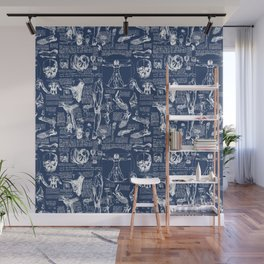 Da Vinci's Anatomy Sketchbook // Regal Blue Wall Mural