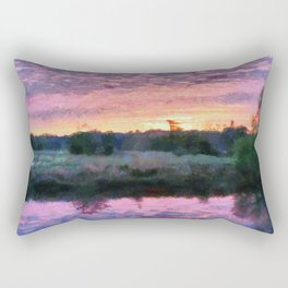 Monet Inspired Sunrise Rectangular Pillow