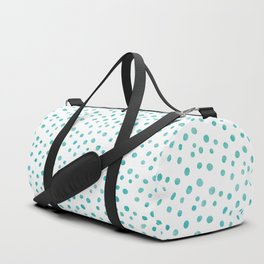 Small Blue Watercolor Abstract Polka Dots Duffle Bag