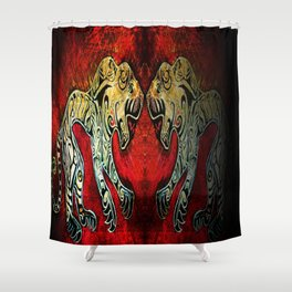 Scythian Tigers by Sheridon Rayment Shower Curtain