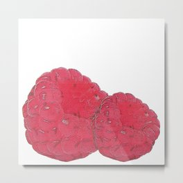 Raspberry canvas, summer Metal Print