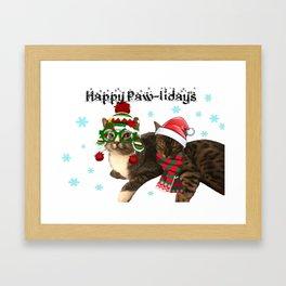 Happy Paw-lidays Framed Art Print