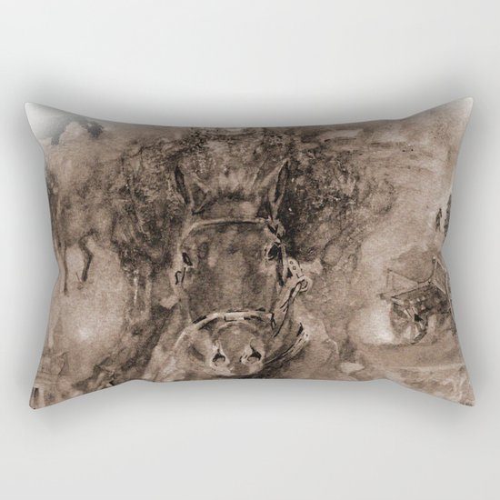 The first victory Rectangular Pillow