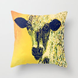 Pastel Sheep Throw Pillow