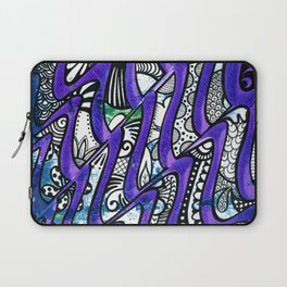 Tangles in the purple waves Laptop Sleeve