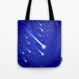 Space background with stars and comets Tote Bag