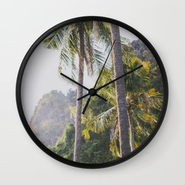 Palm Trees in Thailand Wall Clock