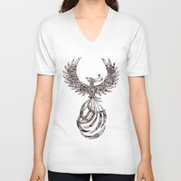 steam punk V-neck T-shirts featuring Steam Punk Pheonix by Paviash