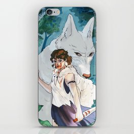 Princess mononoke iPhone Skin