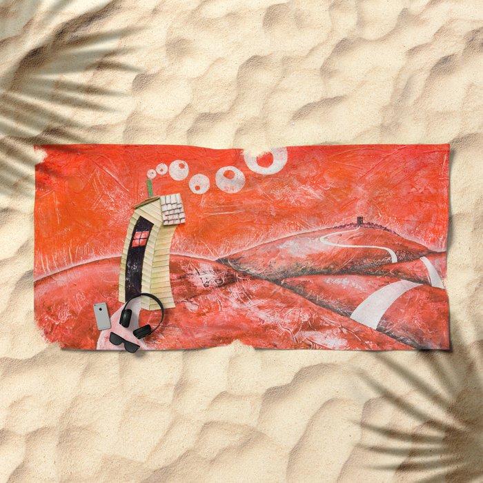 The tale's little house Beach Towel