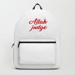 Religion Allah Imam Ali Hussain Hajj Pilgrimage Mecca Gift Only Allah Can Judge Me Backpack