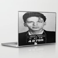 frank sinatra Laptop & iPad Skins featuring Frank Sinatra Mugshot by Neon Monsters