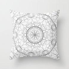 the fountain - floral mandala Throw Pillow