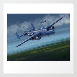 PBJ-1J Marine version of the B-25 Mitchell Art Print