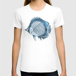 Fish coastal ocean blue watercolor T-shirt