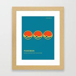 8 BITS BETTER -  POCKET  MONSTER Framed Art Print