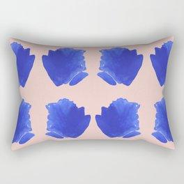 Blue Brushstroke Rectangular Pillow
