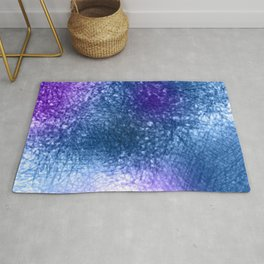 Purple Blue Abstract Painting Rug