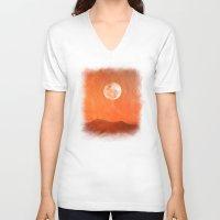 desert V-neck T-shirts featuring Desert by Viviana Gonzalez
