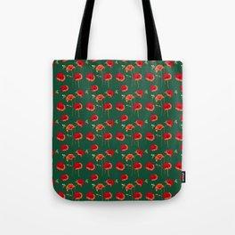 Poppy Field & Bees Tote Bag