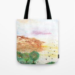 Let's Fly Away Watercolor Painting Tote Bag