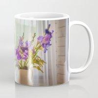 iris Mugs featuring Iris by Svetlana Korneliuk