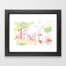 Crayon Portland Oregon Framed Art Print
