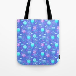 Lollipop And Candy Bright Blue Confection Tote Bag
