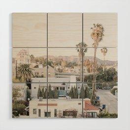 Hollywood California Wood Wall Art