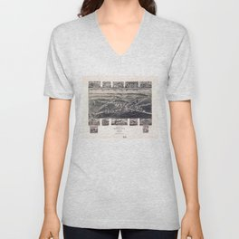 Bird's Eye View of Rising Sun, Maryland (1907) Unisex V-Neck