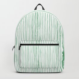 Green Watercolor Stripes Backpack