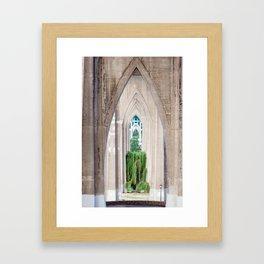 Cathedral Park Portland Framed Art Print