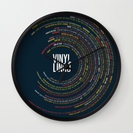 The Full Vinyl Lingo Poster Wall Clock