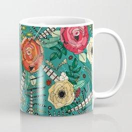 boho winter floral teal Coffee Mug