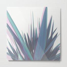 Holographic Leaves Metal Print