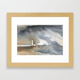 Storm over Crisp Point Lighthouse Framed Art Print