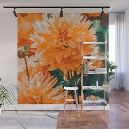 Coral Floral Wall Mural