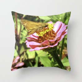 Not A Moth But A Small Skipper Butterfly Throw Pillow