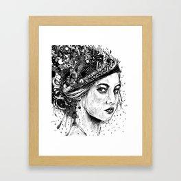 Side glance Framed Art Print