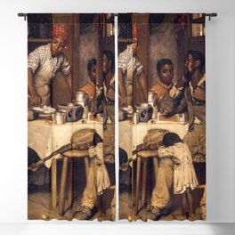 African American Masterpiece 'A Pastoral Visit' by Richard Norris Brooke Blackout Curtain