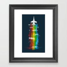 Colored Flight Framed Art Print