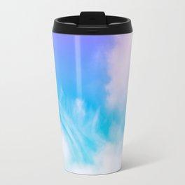 Dreamland | Purple blue bright clouds sky photography Travel Mug