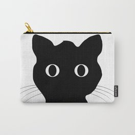 Black eyes cat Carry-All Pouch