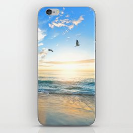 Blue Sky with Birds iPhone Skin