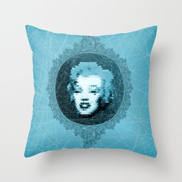 Marilyn's mirror Throw Pillow