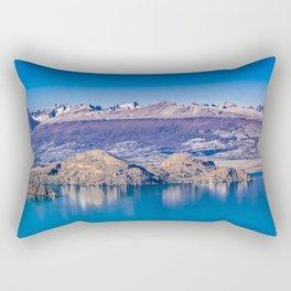 Lake and Mountains Landscape, Patagonia, Chile Rectangular Pillow