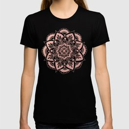 Flower Rose Gold Mandala T-shirt